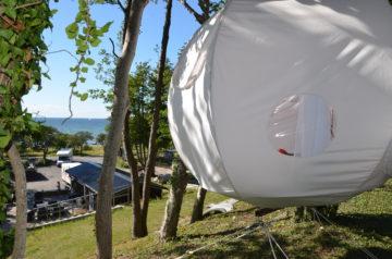 Hängande tält i Visby Gotland