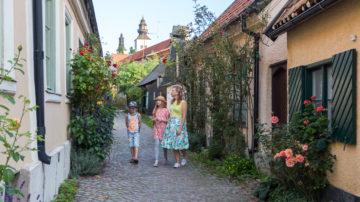 Familj i Visby innerstad