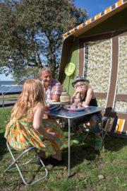 Familjecamping i Visby vid havet